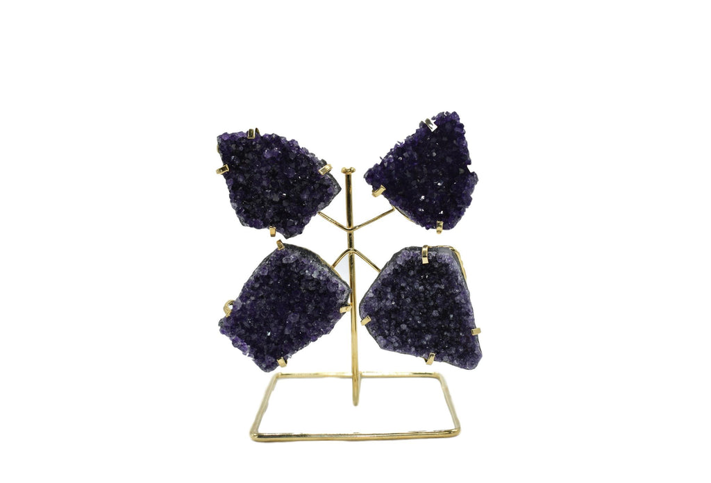 Amethyst Butterfly on Wire Stand