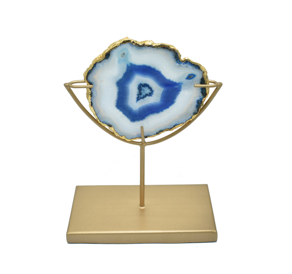 Pastel Blue Decorative Gold Stand