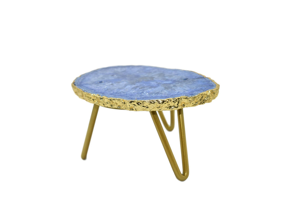1-Layer Cake Stand with Gold Trim