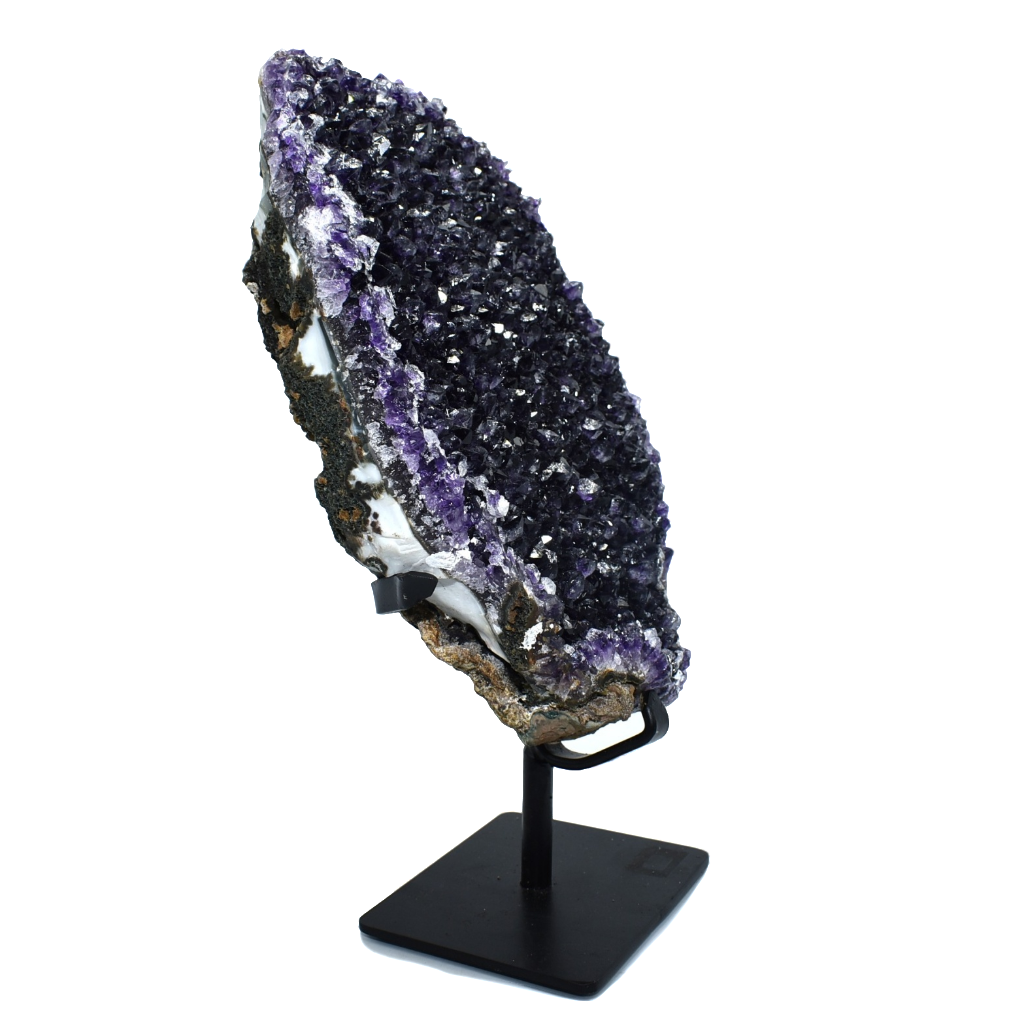 Amethyst Specimen on Metal Stand
