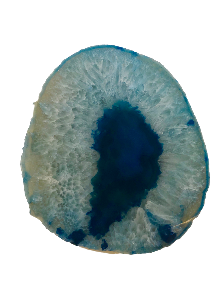 Agate Thick Decorative Platter with NATURAL Trim
