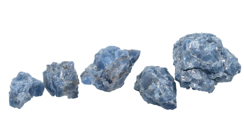 Blue Calcite Chunks