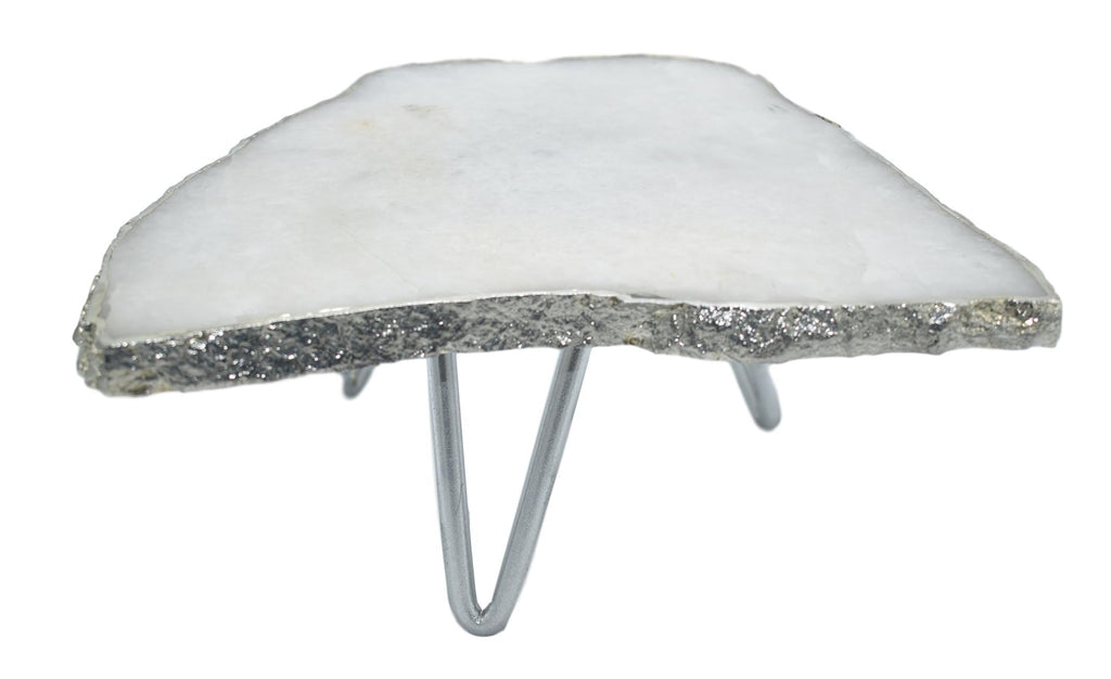 1-Layer Cake Stand with Silver Trim