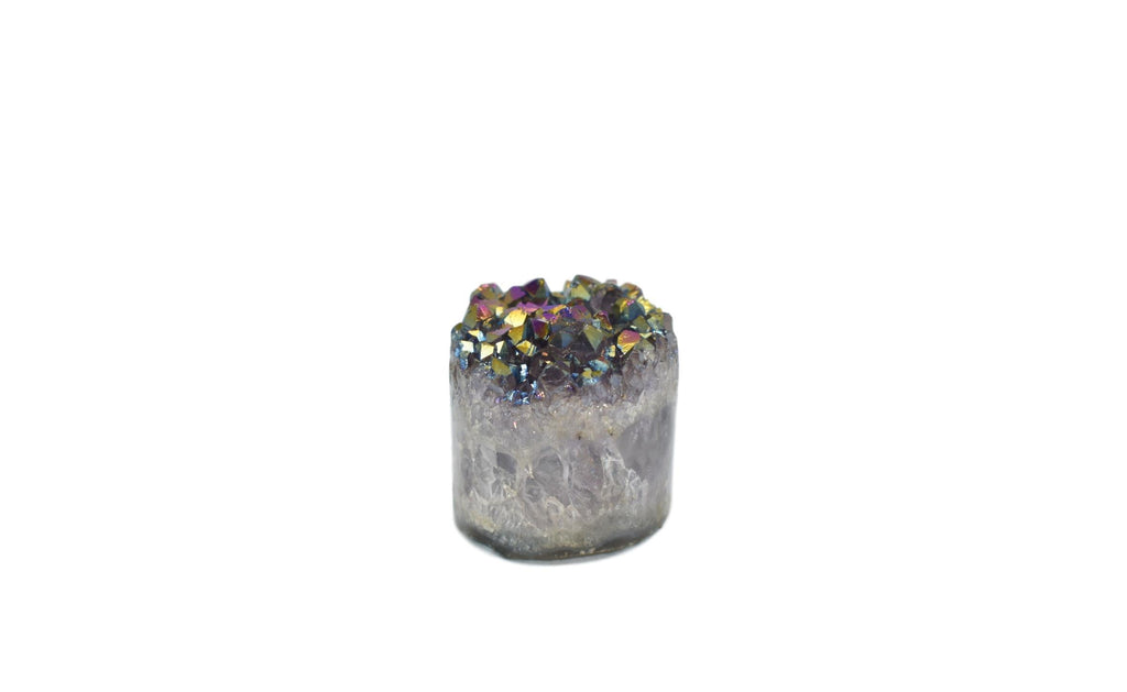 Metalized Amethyst Cylinder
