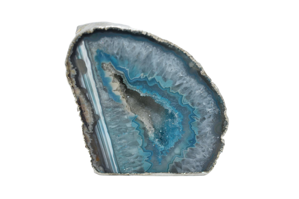 Agate Geodes with Electroplating