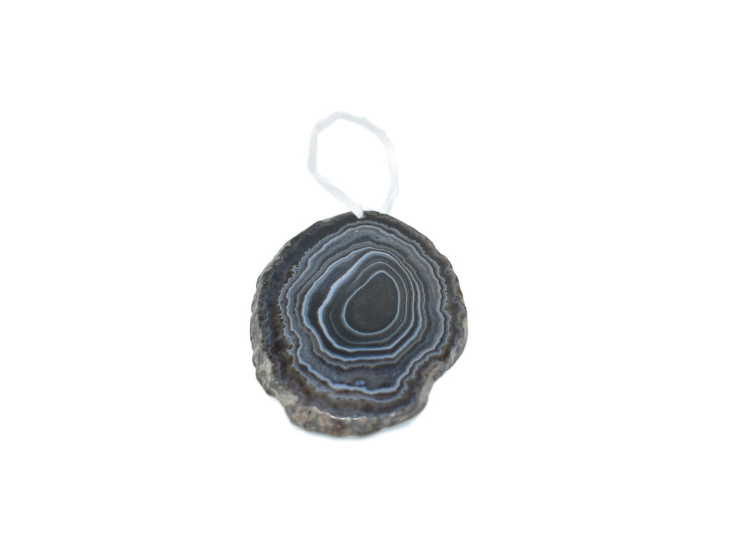 Agate Ornament with Natural Trim