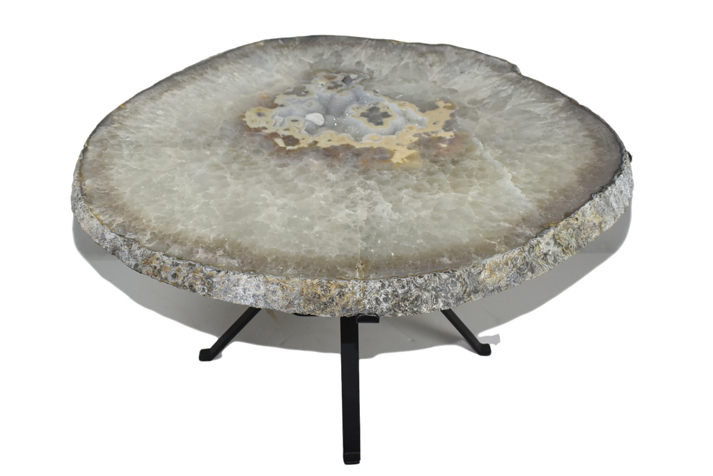 Luxury Agate Side Table Large Natural Crystalline