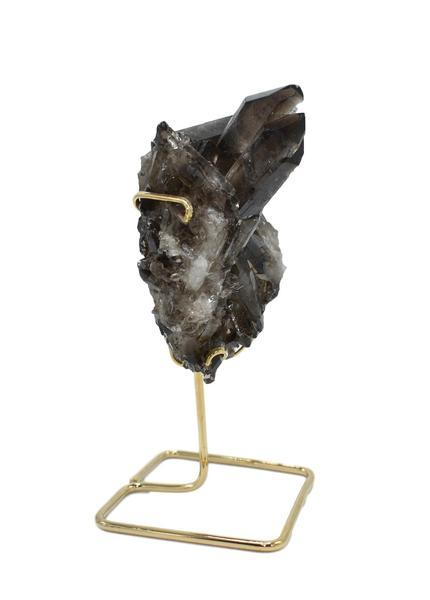 Smoky Quartz Cluster on Wire Stand