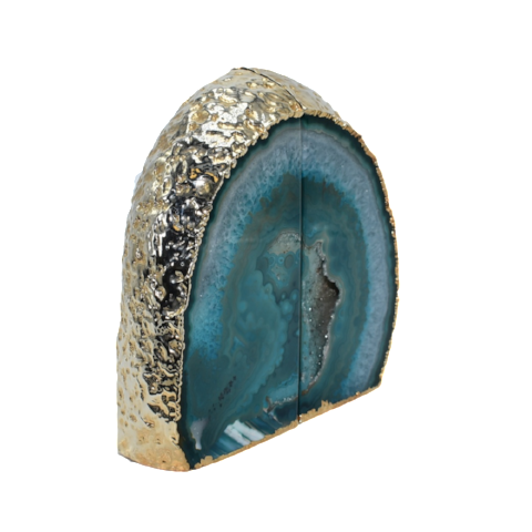 Agate Bookend Gold Electroplated Premium Quality