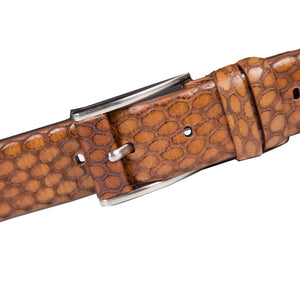 Tan Belt with silver pin buckle