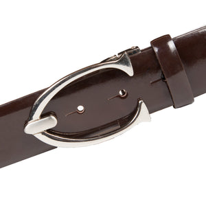 Brown Belt with silver pin buckle