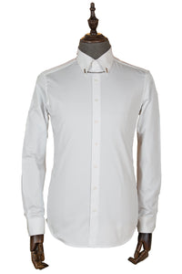 Formal slim-fit shirt in pure cotton