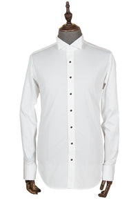 Slim-fit business shirt in pure cotton