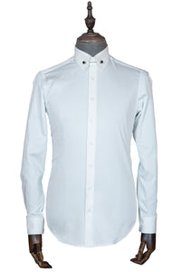 Slim-fit cotton business shirt