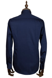 Navy Blue Slim-Fit Shirt