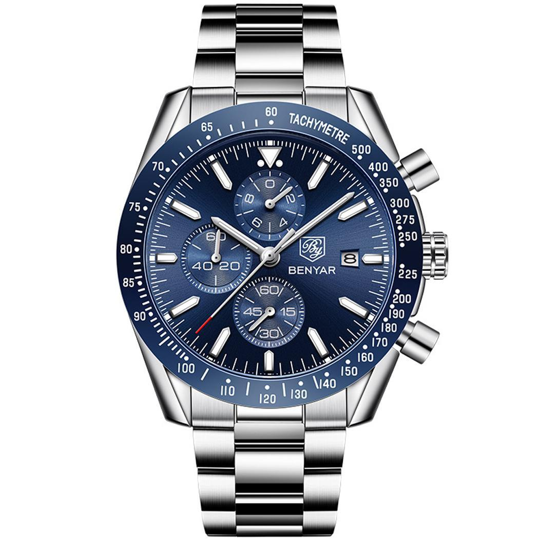 Blue & Silver Men's Watch