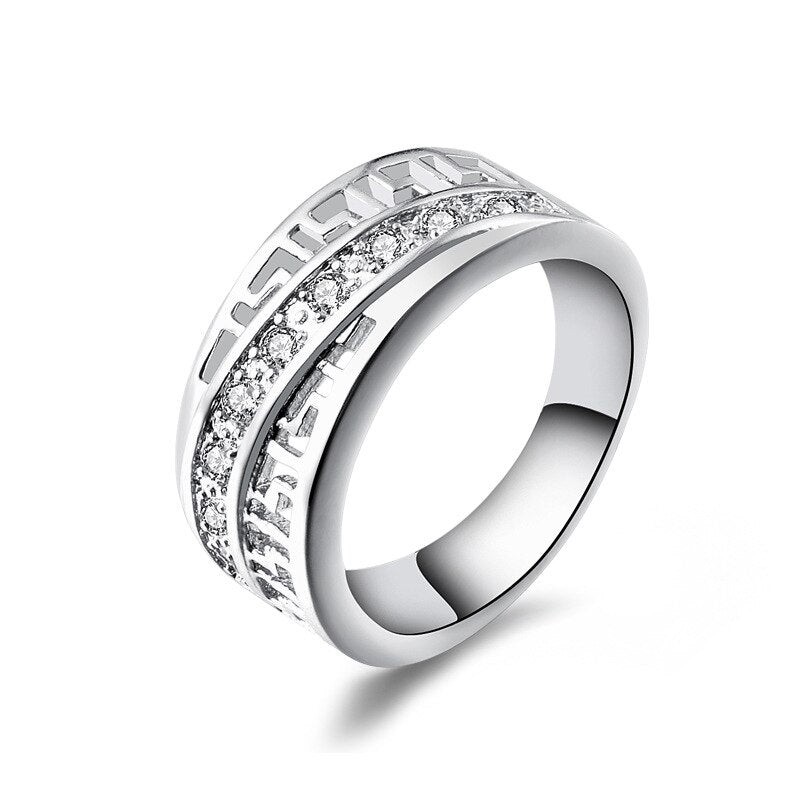 Diagonal Wedding Band