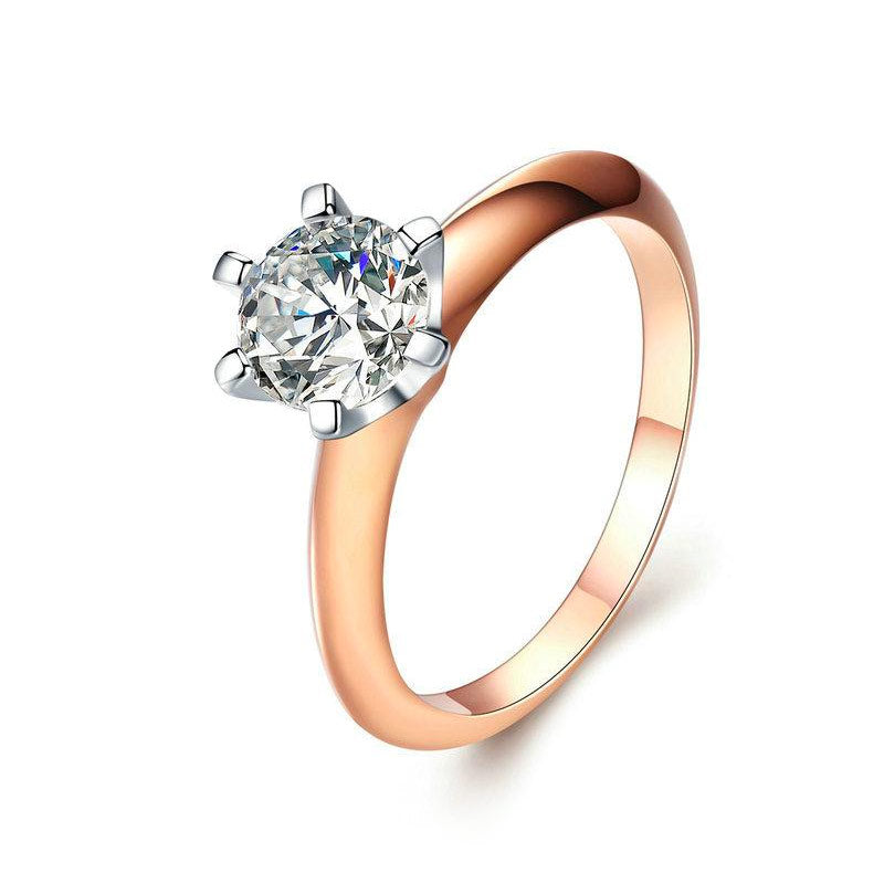 Crystal Stone Engagement Ring