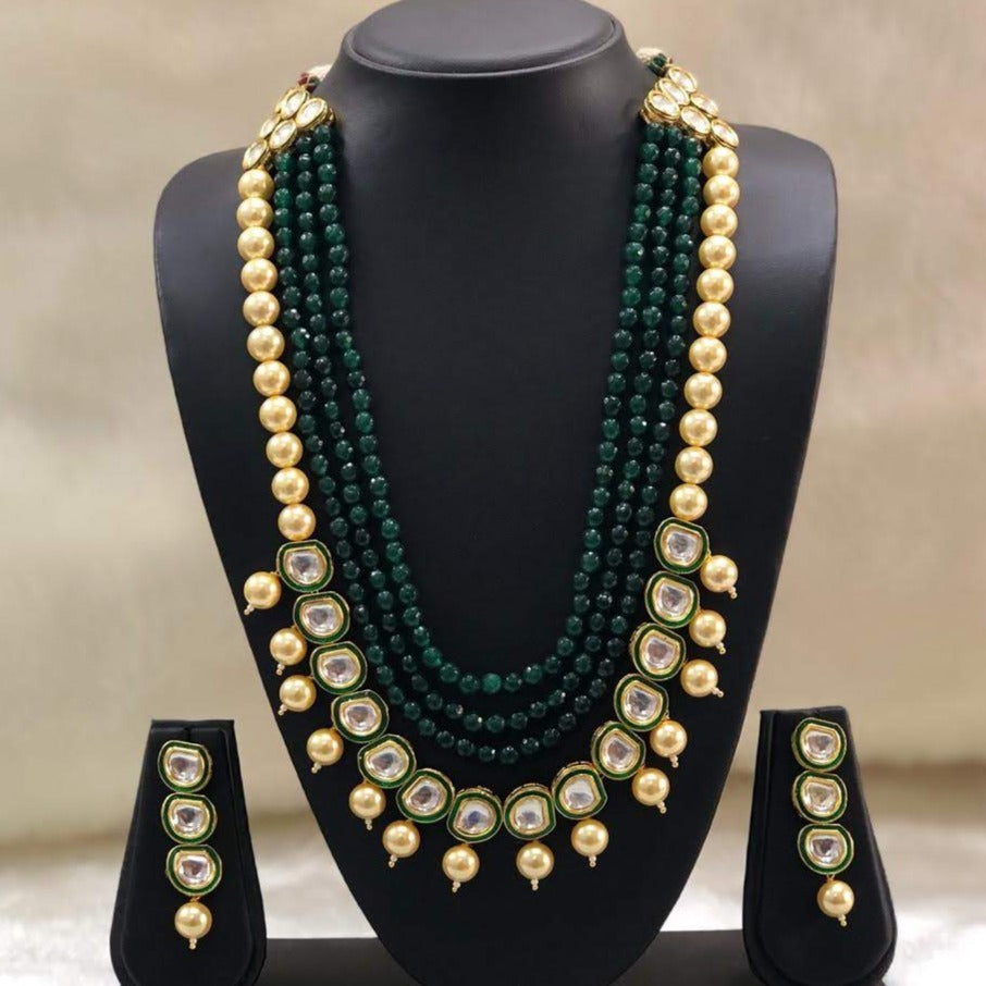 Greenery in Kundan Sunlight Necklace Set