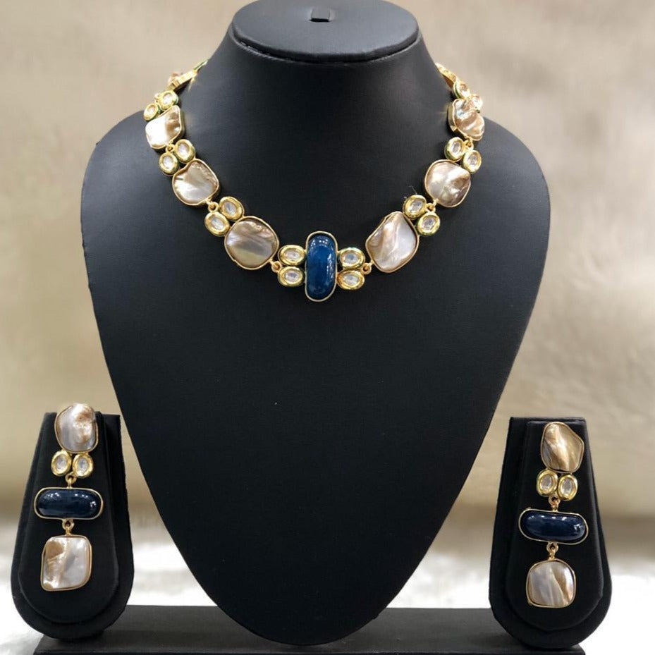 Blue Fills Necklace Set