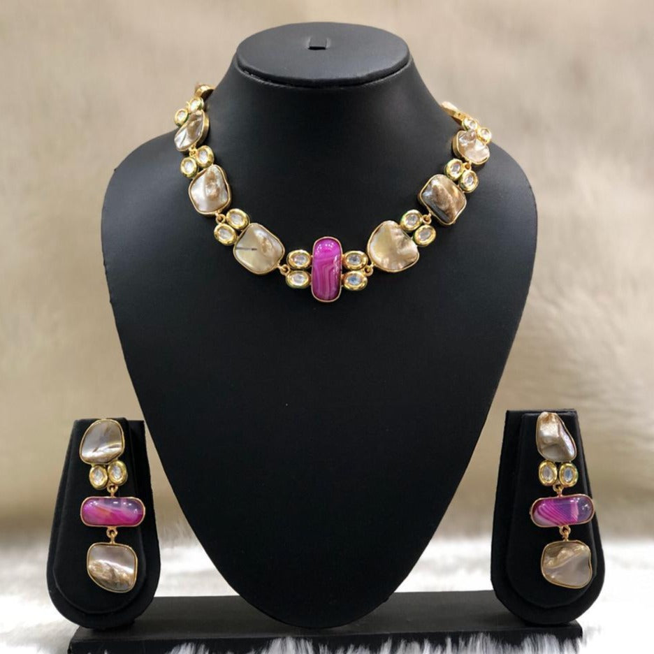 Pink Hues Pendant Necklace Set