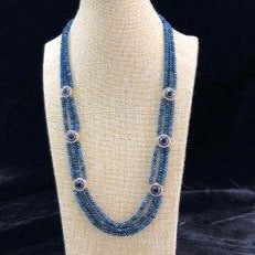 Blue Hues Multi Pendant Necklace