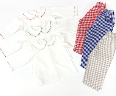 Sweet Dreams Peter Pan Collared Shirt and Pant Set