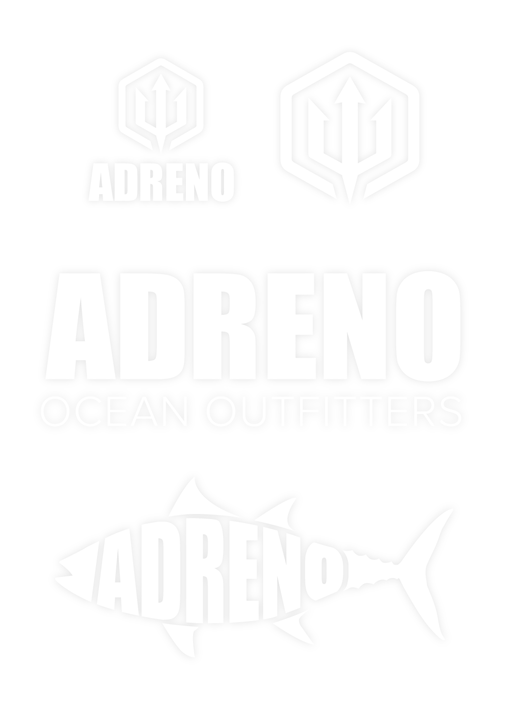Adreno Ocean Outfitters sticker sheet