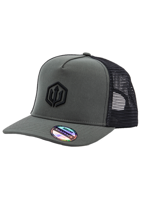 Adreno Cobber Snapback Trucker Cap - Embroidered Trident