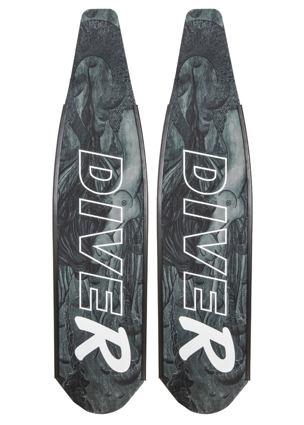 DiveR Spearfishing Blades Carbon Monochrome Mermaid