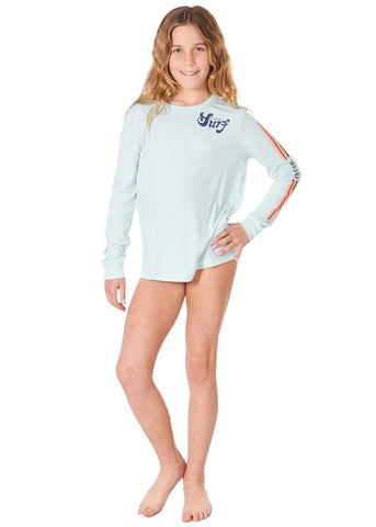 Rip Curl Girls Retro Long Sleeve Surflite Rash Guard