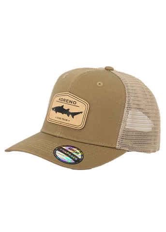 Adreno Surge Trucker Cap - Leather Shark Badge