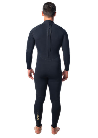 SALT Mens 3/2mm Back Zip Steamer Wetsuit