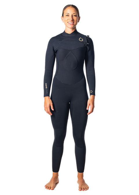 SALT Womens 3/2mm Chest Zip Steamer Wetsuit
