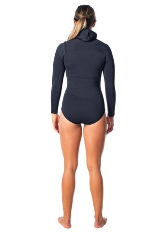 SALT Womens 2.5mm Long Sleeve Hooded Spring Suit Wetsuit