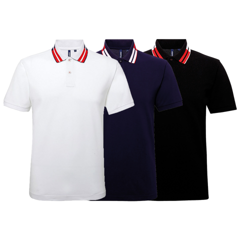 Asquith & Fox Men's Two Colour Tipped Polo