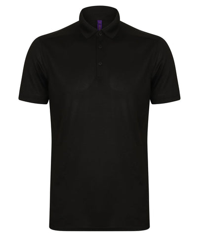 Henbury Men's Slim Fit Stretch Polo Shirt with Wicking Finish