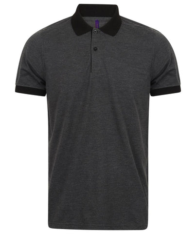 Henbury Contrast Triblend Polo Shirt