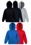 Fruit of the Loom Children's Premium Hooded Sweatshirt Jacket