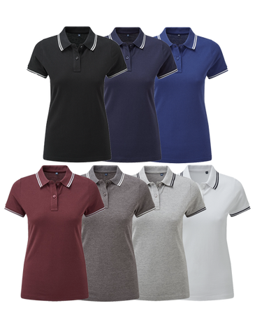 Asquith & Fox Women's Contrast Polo
