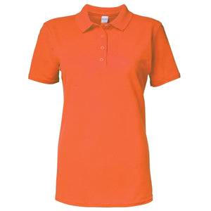 Gildan Womans Soft Style Pique Polo (Includes 1 Free Embellishment)