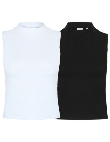 SF Women's High Neck Crop Top