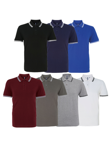 Asquith & Fox Men's Contrast Polo