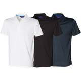 Henbury Textured Stripe Sports Polo