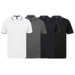 Henbury Textured Tipped Sports Polo