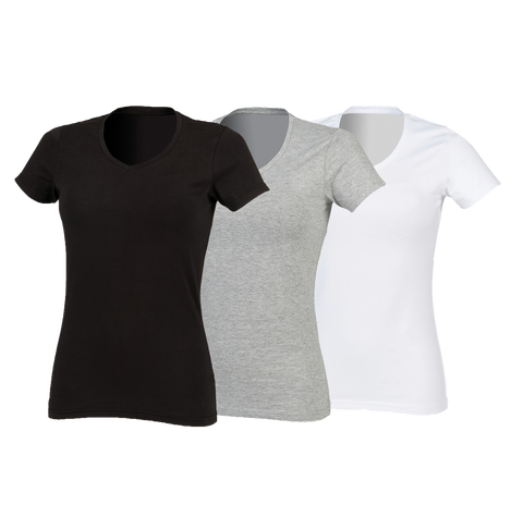 SF Women's Stretch V-Neck T-Shirt