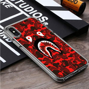 Bape shark red iPhone X, iPhone XS, iPhone XS Max, iPhone XR Case