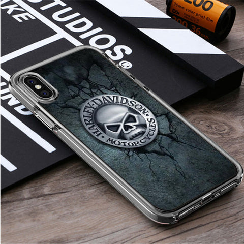 HARLEY DAVIDSON MOTORCYCLE SKULL iPhone X, iPhone XS, iPhone XS Max, iPhone XR Case