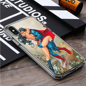 Superman And Wonder Woman Fire Love iPhone X, iPhone XS, iPhone XS Max, iPhone XR Case