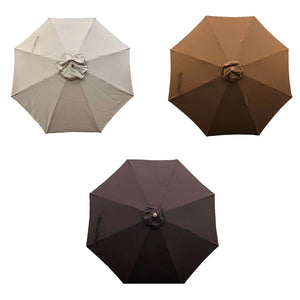 11ft Market Patio Umbrella 8 Rib Replacement Canopy Sunbrella Canvas in 3 Premium Colors
